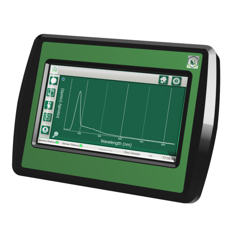 Fraction Finder Digital Display Side for Botanical Processing